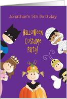 Halloween Birthday Costume Party Invitation for Kids, Customized card