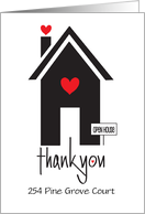 Realtor's Thank You for Coming to Open House, Custom Address card