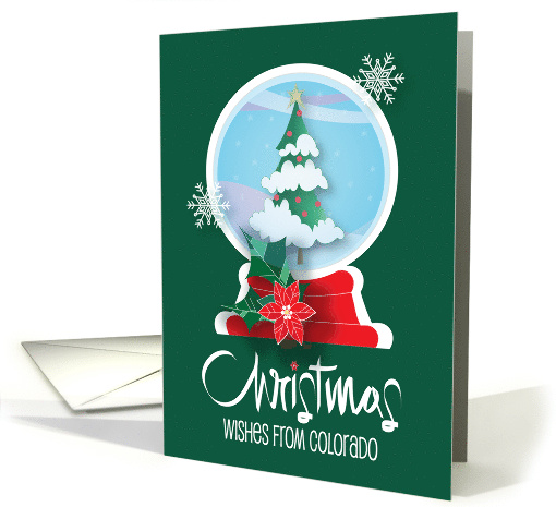 Hand Lettered Christmas Wishes with Colorado Snow Globe card (879038)