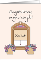 Congratulations on your new job - Doctor card