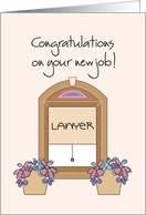 Congratulations on your new job as a Lawyer card