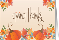 Thanksgiving in Calligraphy, Giving Thanks for all our Blessings card