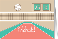 Congratulations and Celebrate for Volleyball card