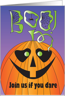 Halloween Party Invitation, Boo Oogley Eye Delightful Night of Fright card