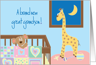 Congratulations for New Baby Great Grandson with nursery card