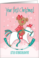 Granddaughter's First Christmas, Gingerbread Kids and Cookies card