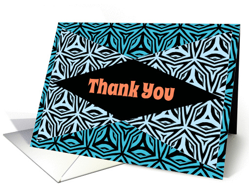 Thank You Zebra Print Kaleidoscope Design card (1153016)