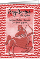 Happy Birthday Sagittarius Zodiac Astrology Personality Traits Archer card
