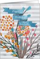 Happy Birthday Great Grandmother Pretty Watercolor Effect Flowers card