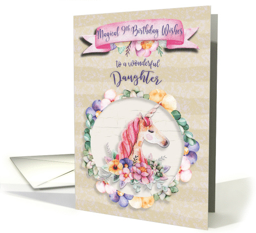 Daughter S 9th Birthday Quotes: Happy Birthday 9th Birthday To Daughter Pretty Unicorn