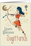 Happy Birthday Sagittarius Zodiac with Sagittarius Star Constellation card
