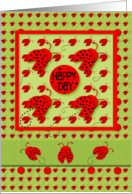 Happy Birthday Happy Day to You Bright and Cute Ladybugs card