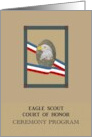 Eagle Scout Court of Honor Ceremony Program, illustration of the magnificent eagle card
