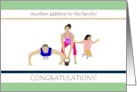 Pregnancy congratulations, cross fit family card