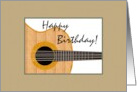 Birthday, illustration of a guitar card