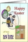 Easter greetings from newlyweds in new home card