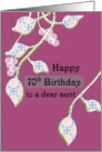 Aunt's 70th birthday, abstract florals card