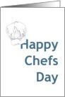 Chefs Day, chef's hat card