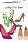 Shoe lovers, pretty shoes card
