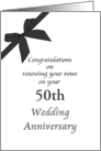 Customizable congratulations renewing vows on wedding anniversary card