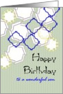 Birthday for son, geometric shapes card