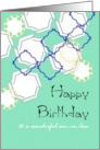 Birthday for Son-in-Law, Geometric Patterns card