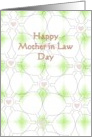 Mother in Law Day, Geometric Lines and Hearts card