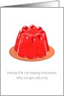 Jelly on a plate, get well card