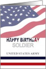 Birthday for United States Army soldier, Stars and Stripes card