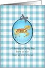 Baby boy born in the Year of the Horse, cute prancing horse card