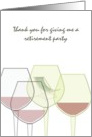 Thank you for hosting retirement party, glasses of wine card