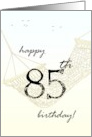 85th birthday greeting relaxing in a hammock card