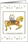 Co-Worker's 25th Work Anniversary, 25 Years in the Saddle, Horses card