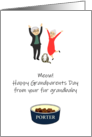Grandparents Day from Fur Grandbaby, Custom Pet Name on Bowl card