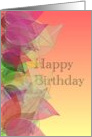 Fall Birthday, colorful autumn leaves card