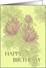 Happy Birthday, Light Blooms card