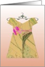 Dress on Hanger, Any Occasion, Blank Note Card