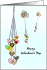 Valentine's Day for sweetheart, strings of hearts afloat card