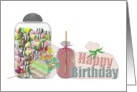 8th Birthday, A whole load of mouthwatering candies card