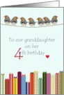 Granddaughter's 4th birthday, Little birds and colorful presents card