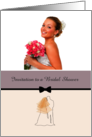 Photocard and customizable bridal shower invitation card