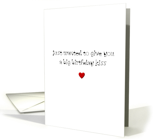A birthday kiss and a red heart card (1103922)