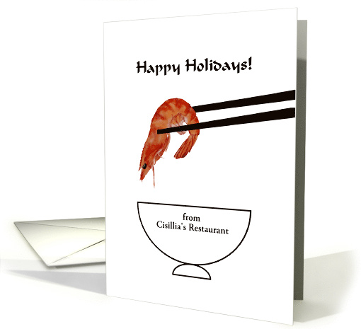 Happy holidays from restaurant to customers, chopsticks... (1112124)