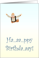 Skydive birthday, sky diver card
