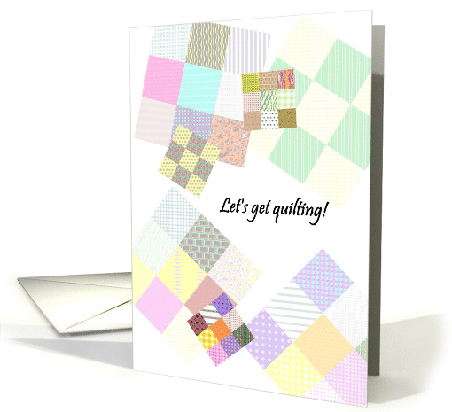 Quilting party invitation, themed party card (1296040)