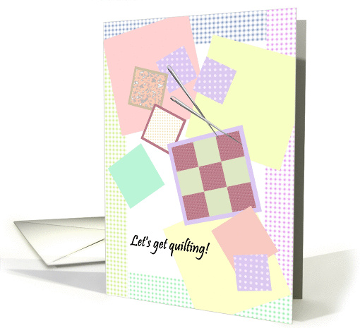 Quilting party invitation, themed party card (1296128)