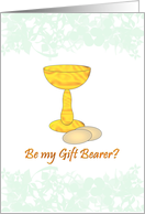 Be my gift bearer, illustration of the Eucharist card