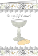 By my gift bearer, illustration of the Eucharist card
