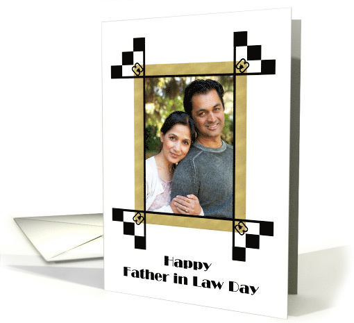 Father in Law Day Photo Card, Photo Frame card (1308138)