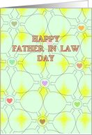 Father in Law Day, Geometric Lines and Colorful Hearts card